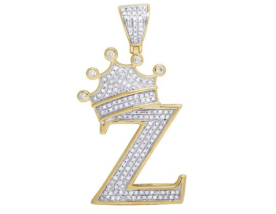 Preload https://img-static.tradesy.com/item/23123578/jewelry-unlimited-10k-yellow-gold-diamond-tilted-crown-initial-z-pendant-055-ct-16-charm-0-1-540-540.jpg