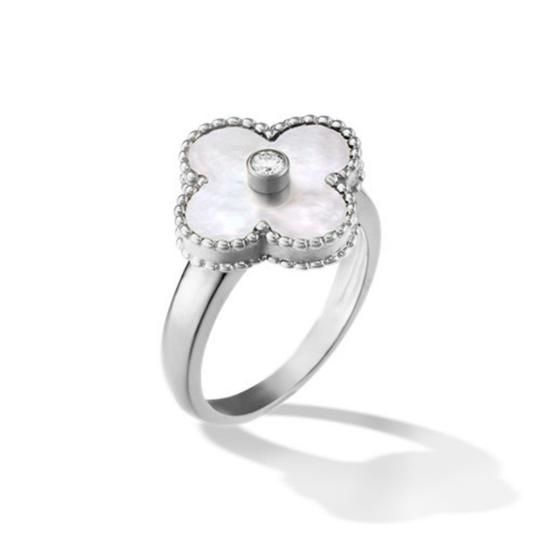 Preload https://img-static.tradesy.com/item/23123584/van-cleef-and-arpels-white-vintage-alhambra-gold-mother-of-pearl-diamond-ring-0-0-540-540.jpg