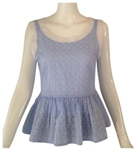Max & Co. Top white and light blue
