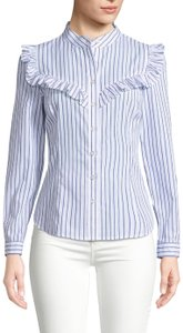 Plenty by Tracy Reese Button Down Shirt Blue/white