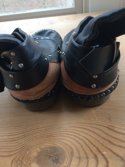 Luciano marra Moccasin Leather Casual Handsewn Black Boots Image 3