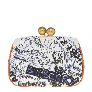 1c3b9c030318 Burberry Tote. Burberry Women's Small Doodle Print Leather Metal Frame  Clutch ...