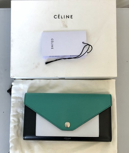 Céline Wallet Pocket Wallet Green Smoke Clutch Image 1