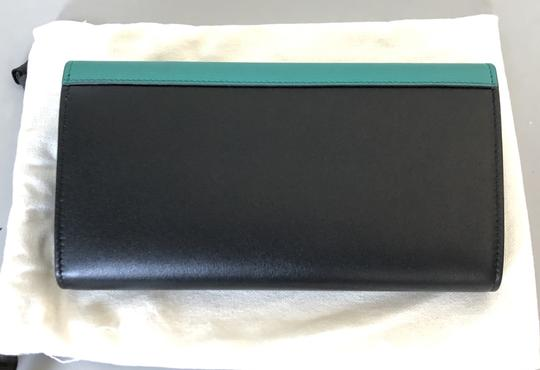 Céline Wallet Pocket Wallet Green Smoke Clutch Image 3