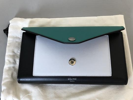 Céline Wallet Pocket Wallet Green Smoke Clutch Image 4
