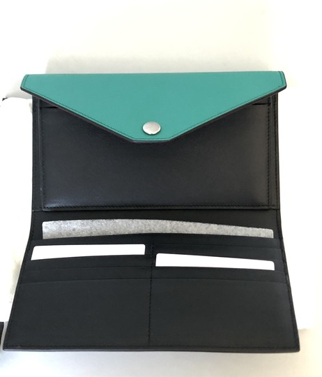 Céline Wallet Pocket Wallet Green Smoke Clutch Image 5
