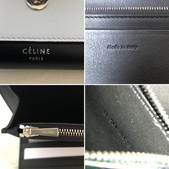 Céline Wallet Pocket Wallet Green Smoke Clutch Image 6