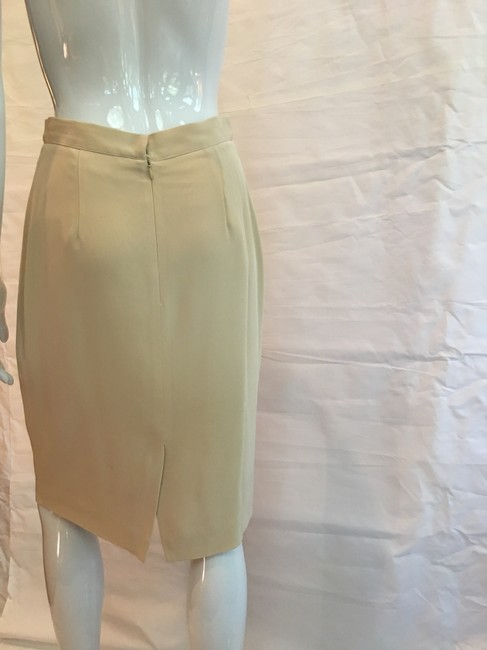 Victoria Royal Ltd Pencil Skirt Tan Image 4