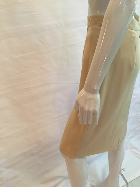 Victoria Royal Ltd Pencil Skirt Tan Image 5