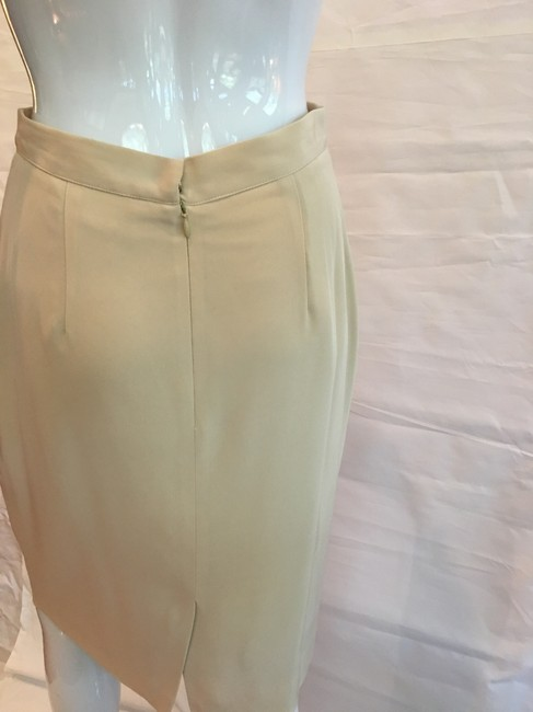 Victoria Royal Ltd Pencil Skirt Tan Image 6