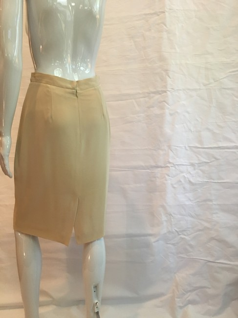 Victoria Royal Ltd Pencil Skirt Tan Image 7