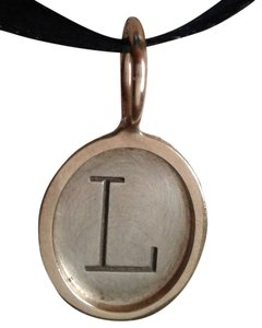 """Heather Moore Jewelry Heather B. Moore mixed metal single initial 'L"""" oval charm size 2."""