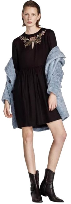 Preload https://img-static.tradesy.com/item/23124104/zara-black-embroidered-with-ruffled-sleeves-short-casual-dress-size-16-xl-plus-0x-0-1-650-650.jpg
