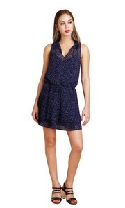 Greylin short dress Navy/white on Tradesy