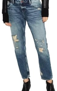 Zara Relaxed Fit Jeans-Distressed