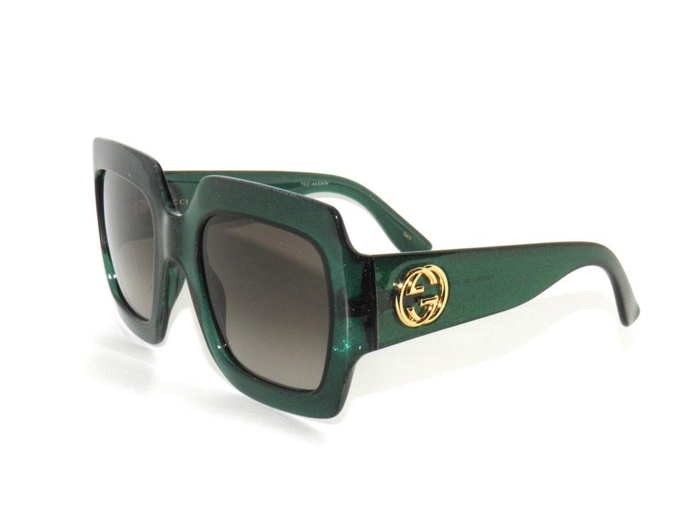 9a71d1af04717 Gucci GUCCI GG0053S 005 Green Square Sunglasses Brand New!