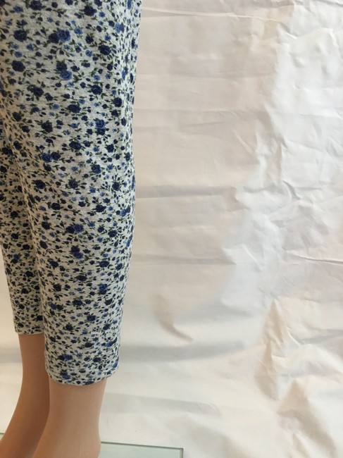 Other Floral Cotton Stretchy Pant Blue heather grey Leggings Image 1