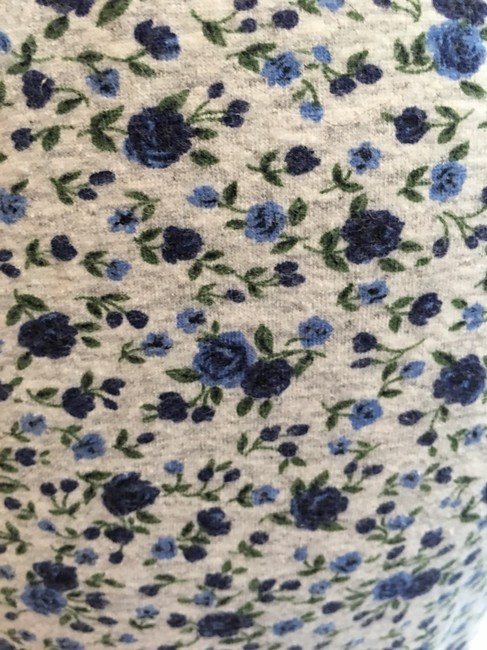 Other Floral Cotton Stretchy Pant Blue heather grey Leggings Image 2