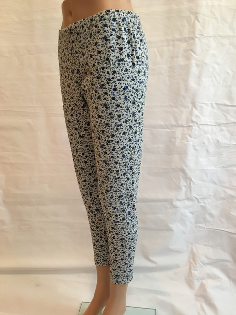 Other Floral Cotton Stretchy Pant Blue heather grey Leggings Image 3