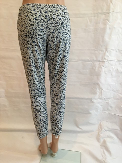 Other Floral Cotton Stretchy Pant Blue heather grey Leggings Image 4