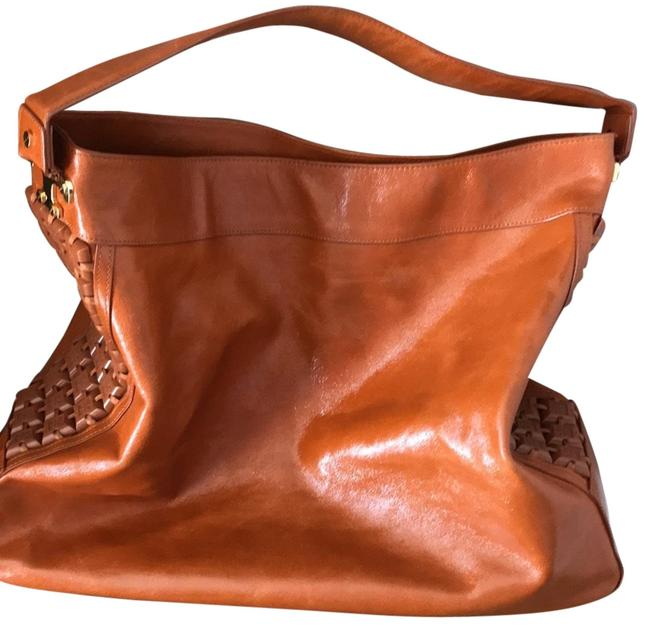 Item - Slouchy In Rust Brown Patent Leather Hobo Bag