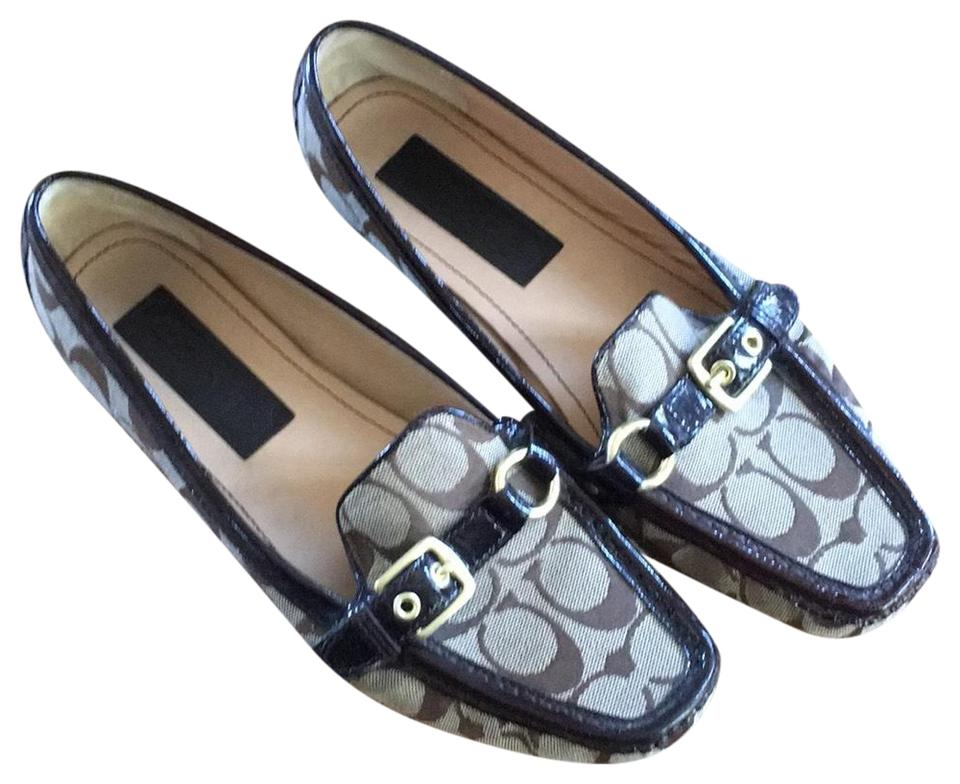 1861a775b38b5 Coach Brown and Tan Loafer Flats Size US 9 Regular (M