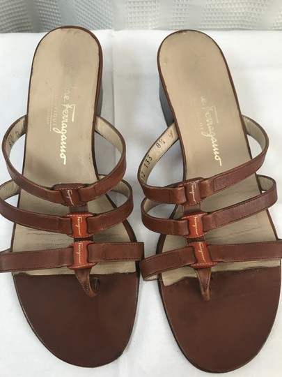 Salvatore Ferragamo Brown Sandals Image 3