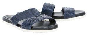 Adam Lippes Leather Navy Blue Sandals
