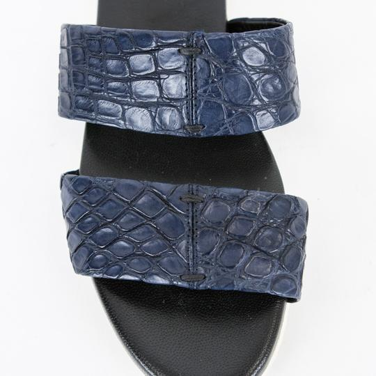 Adam Lippes Leather Navy Blue Sandals Image 2