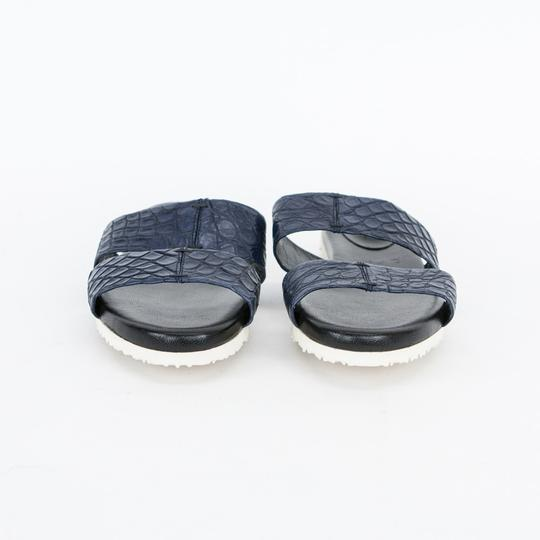 Adam Lippes Leather Navy Blue Sandals Image 4