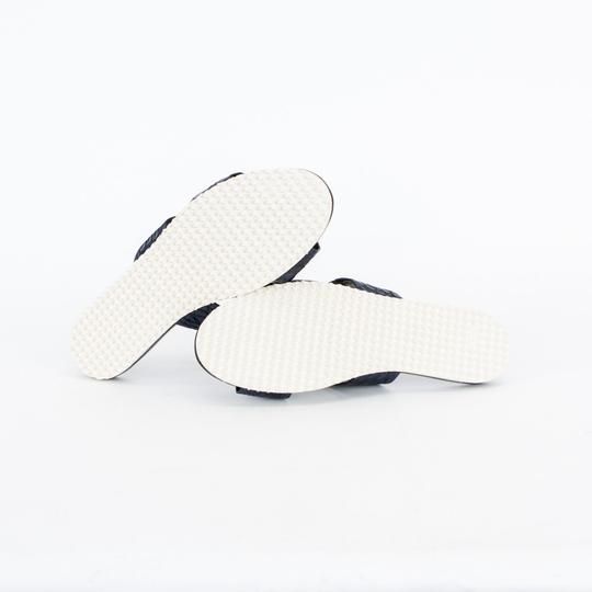 Adam Lippes Leather Navy Blue Sandals Image 5