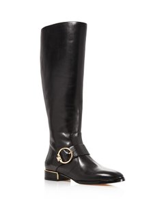 Tory Burch Sofia Riding Tall Metallic Hardware Boots