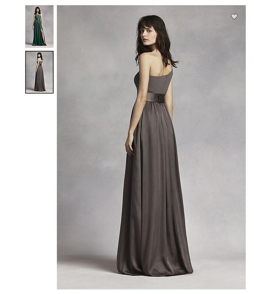 0b21af88caf Vera Wang Forest Long Soft Matte Charmeuse Satin Sash At Waist One Shoulder  Vw360215 Formal Bridesmaid. 123