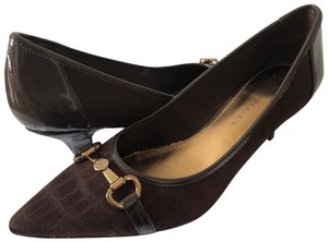 Anne Klein Dress Fabric Brown Pumps