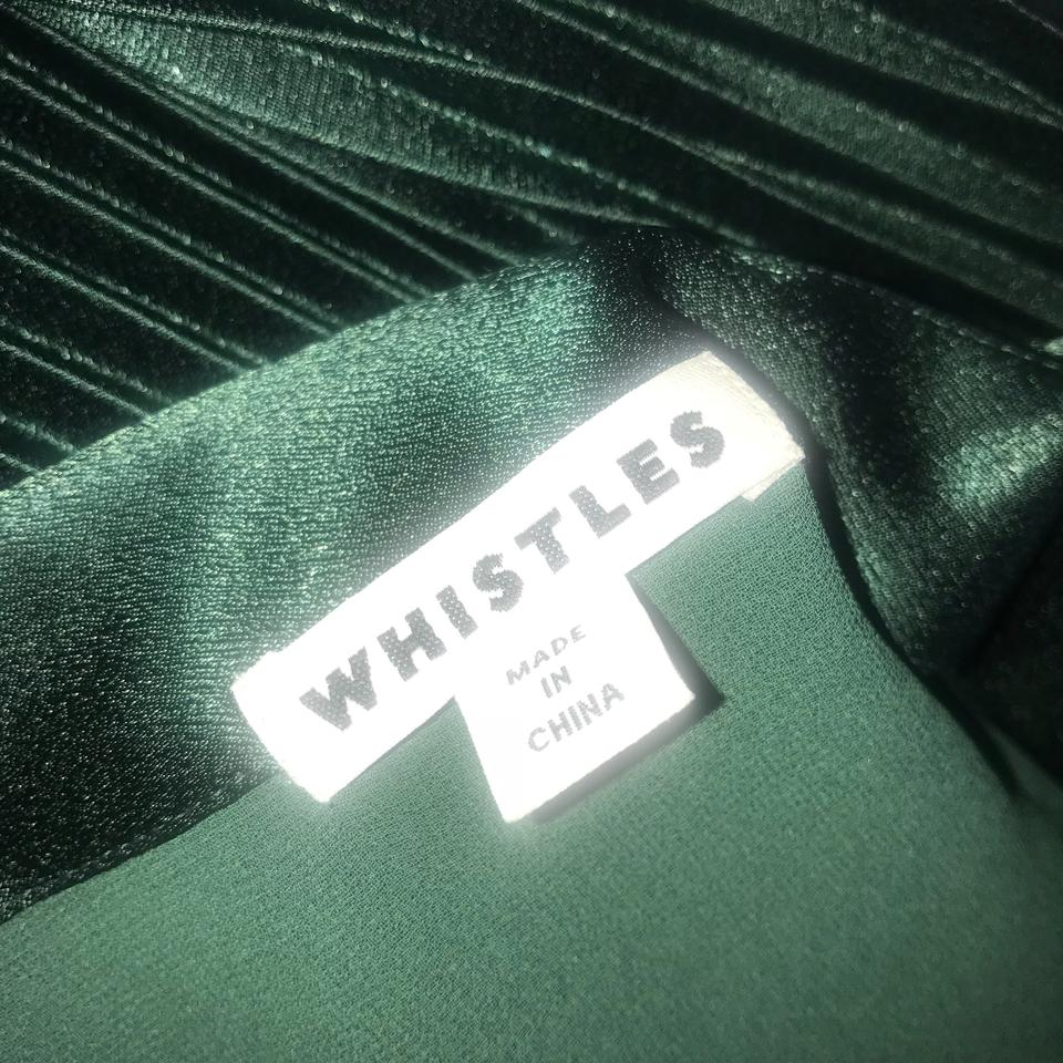 ffdd14dab Whistles Mineral Green Satin Pleated Strappy Mid-length Cocktail ...
