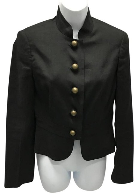 Preload https://img-static.tradesy.com/item/23125552/trina-turk-black-mandarin-collar-linen-blend-jacket-blouse-size-6-s-0-0-650-650.jpg