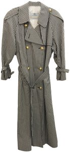 Aquascutum Checkered Belted Trench Coat