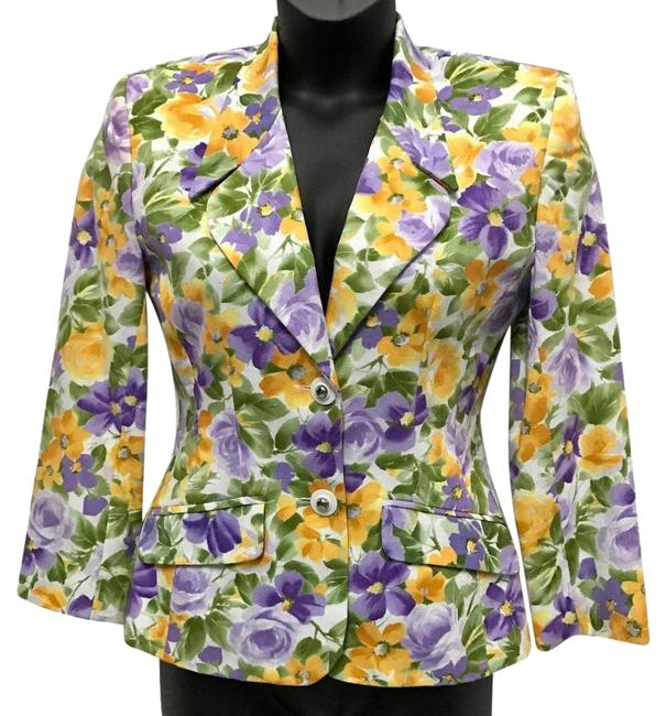 Preload https://img-static.tradesy.com/item/23125581/tempo-paris-spring-flowers-cotton-jacket-blazer-size-6-s-0-1-650-650.jpg