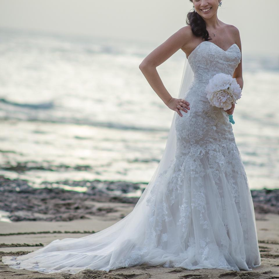 Maggie Sottero Lace Wedding Gown: Maggie Sottero Ivory All Over Embroidered Lace Over