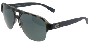 A|X Armani Exchange AX4056S-820387 Pilot Men's Grey Frame Grey Lens Sunglasses
