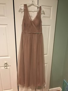 Alexia Designs Blush Chiffon Style 4232 Formal Bridesmaid/Mob Dress Size 8 (M)