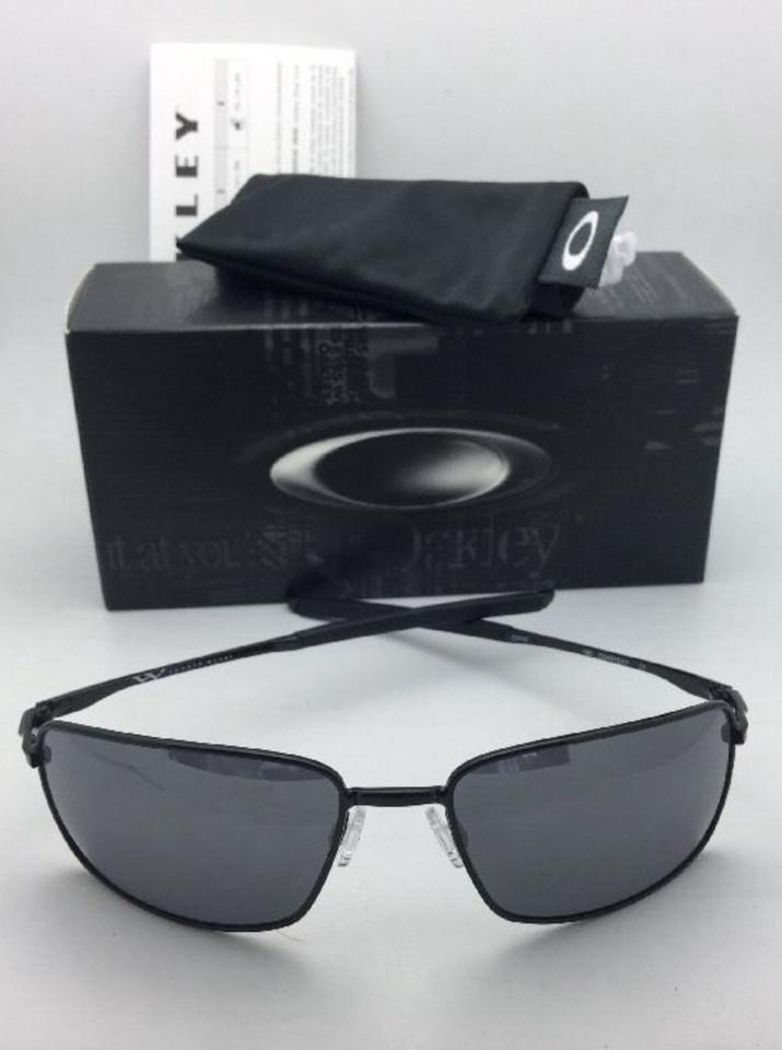 Oakley New Square Wire Oo4075-01 Polished Black Frame W/Black ...