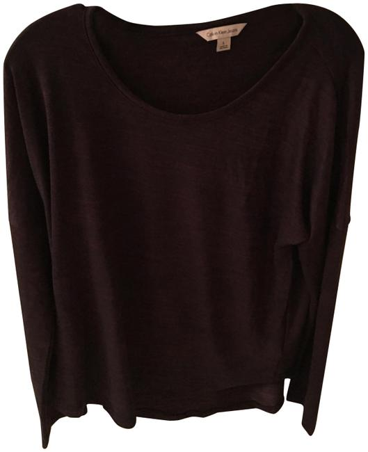 Preload https://img-static.tradesy.com/item/23125702/calvin-klein-black-and-plum-sweaterpullover-size-12-l-0-1-650-650.jpg