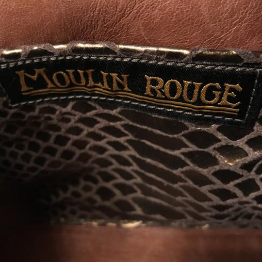 Moulin Rouge Purse Handbag Clutch Suede Baguette Image 8