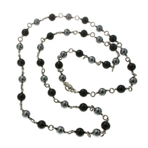 David Yurman David Yurman Tahitian Pearl & Black Onyx Bijoux Necklace