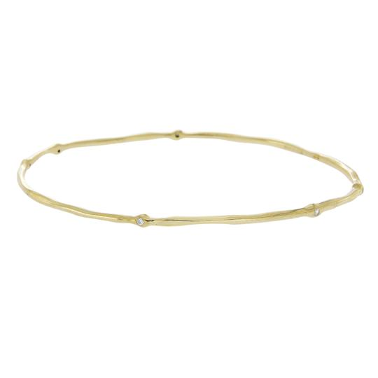 Preload https://img-static.tradesy.com/item/23125918/ippolita-hammered-18k-yellow-gold-six-diamonds-bangle-bracelet-0-0-540-540.jpg