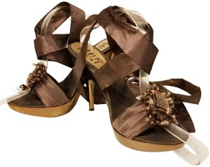 Bluzi Made In Italy Embellished Bronze Copper Sandals