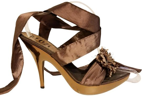 Bluzi Made In Italy Embellished Bronze Copper Sandals Image 1