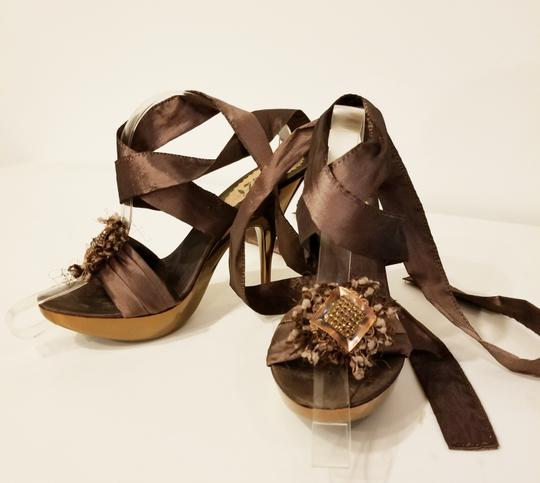 Bluzi Made In Italy Embellished Bronze Copper Sandals Image 10