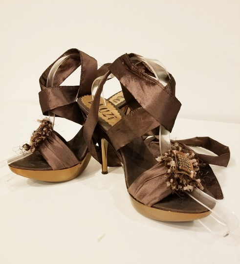 Bluzi Made In Italy Embellished Bronze Copper Sandals Image 2